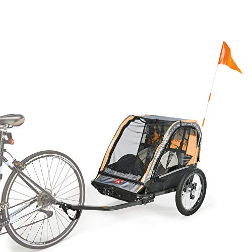 Allen Sports Deluxe Steel 2-Child Bicycle Trailer and Stroller, Model...