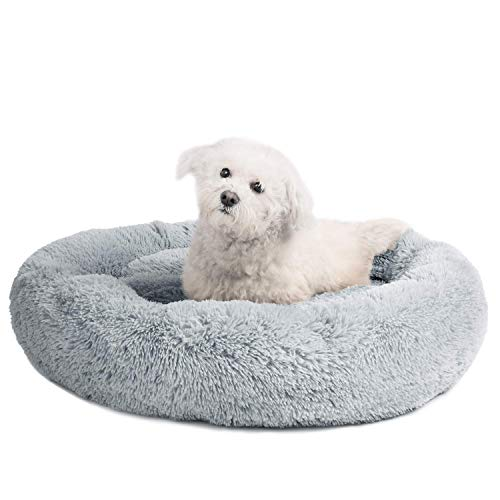 OCSOSO Dog Bed Washable Plush Round Pet Bed Snooze Sleeping Cozy Kitty Teddy Kennel Soft Comfortable...