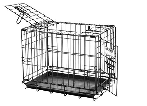 Precision Pet 2-Door ProValu2 Crate - Black - 19' x 12' x 14'