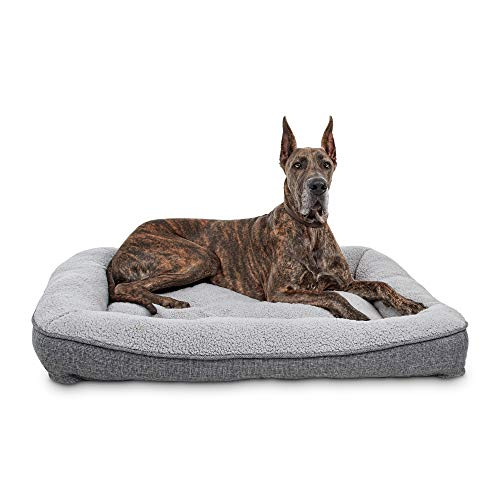 Harmony Cozy Cottage Gray Lounger Dog Bed, 48' L X 36' W X 6' H,...