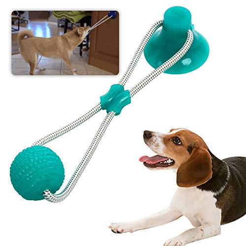 Pet Rubber Ball Toy with Suction Cup -...