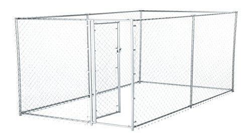 Lucky Dog 41028EZ 10' x 5' x 4' Heavy Duty Outdoor Galvanized Chain...