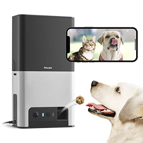 [New 2020] Petcube Bites 2 Wi-Fi Pet Camera with Treat Dispenser & Alexa Built-in, for Dogs and...