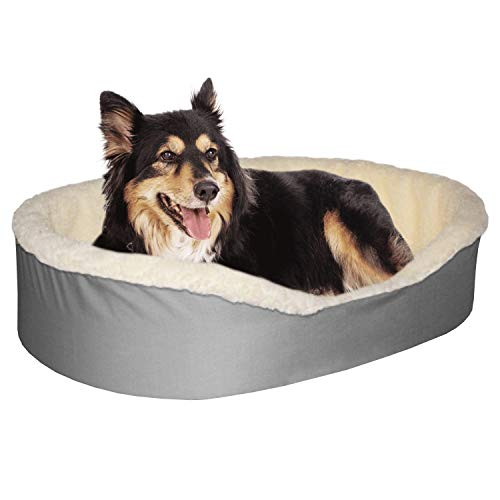 Dog Bed King USA Cuddler Grey/Imitation...