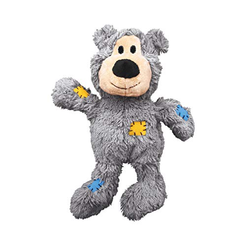KONG - Wild Knots Bear - Internal Knotted Ropes and Minimal Stuffing for Less Mess (Assorted Colors)...