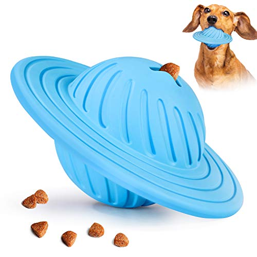 FULNEW IQ Treat Ball Interactive Dog Food Dispenser Durable Dog Chew Toy Ball for Dog Playing,...