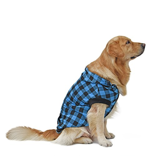 PAWZ Road Large Dog Plaid Shirt Coat Hoodie Pet Winter Clothes Warm...