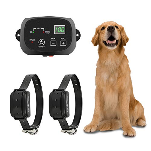 TTPet Electric Dog Fence,In-ground/Aboveground Pet Containment System, IP66 Waterproof&Rechargeable...