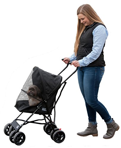 Pet Gear Travel Lite Pet Stroller for Cats and Dogs up to 15-pounds,...
