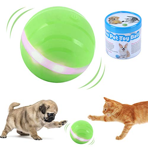 ritastar Gravity Sensor Pet Toy Ball for Cats Dogs,USB Rechargeable,360° Auto Rolling/Turn Off,RGB...