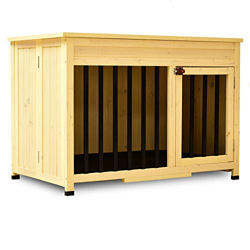 Lovupet No Assembly Wooden Portable Foldable Pet Crate Indoor Outdoor...