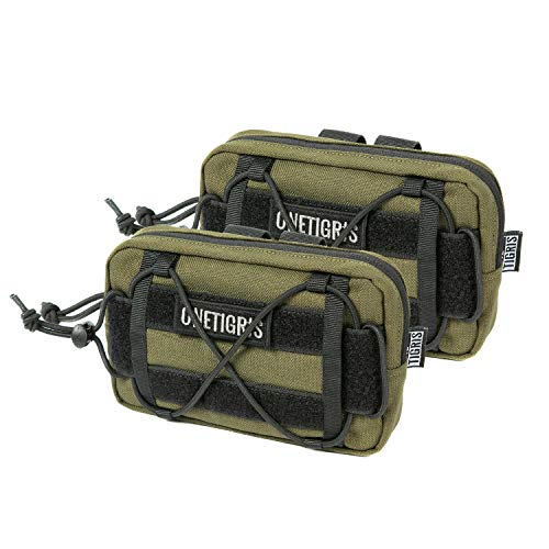 OneTigris EDC Horizontal MOLLE Pouch for Tool Treat Med (2 Pack,...