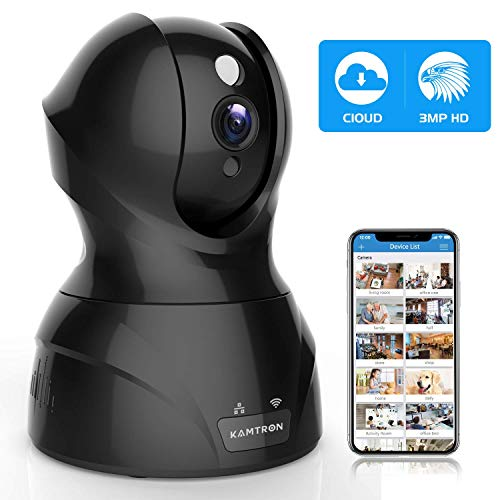 Security Camera Pet WiFi Camera - KAMTRON 1536P Indoor Wireless IP Camera Full HD 3MP Home Video...