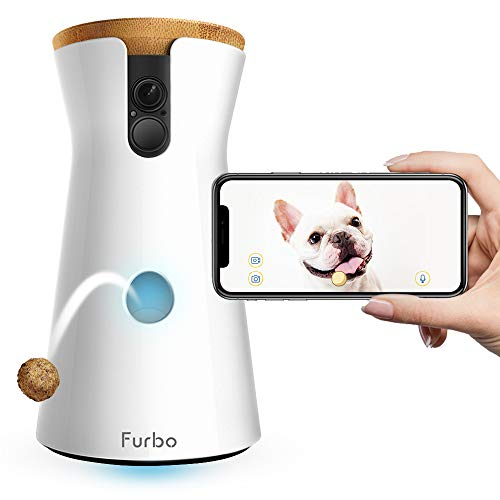 Furbo Dog Camera: Treat Tossing, Full HD Wifi Pet Camera and 2-Way Audio, Designed for Dogs,...