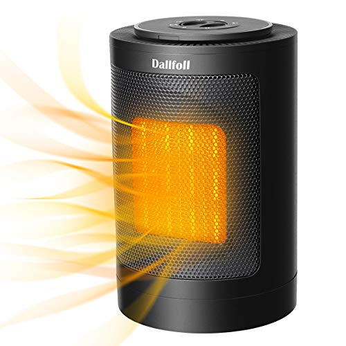 Dallfoll Ceramic Oscillating Space Heater, Portable Indoor Electric...