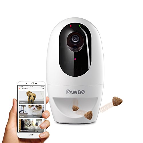 Pawbo Life Pet Camera: WiFi HD Video with 2-Way Audio, Treat Dispenser and Laser Game, Designed for...