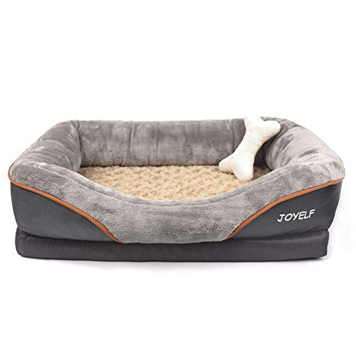 JOYELF Memory Foam Dog Bed Small Orthopedic Dog Bed & Sofa with Removable Washable Cover and...