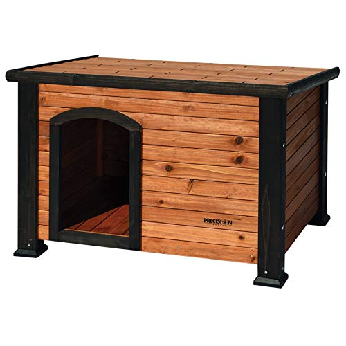 Petmate Precision Pet Weather-Resistant Log Cabin Dog House with...