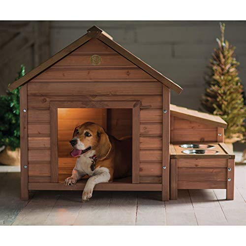 Solid Wood A-Frame Outdoor Dog House...