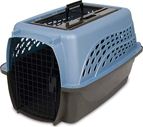 Petmate Two Door Top Load 24-Inch Pet Kennel, Pearl Ash Blue/Coffee...