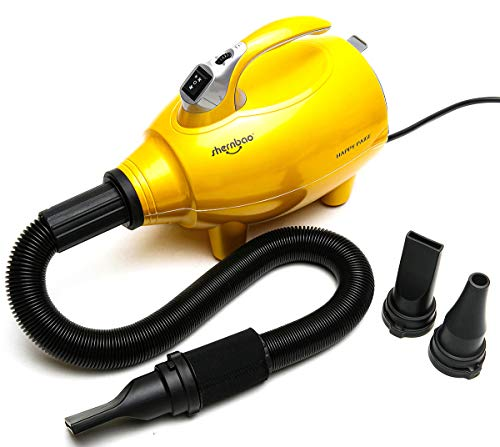 shernbao Dog Dryer High Velocity Professional Dog Pet Grooming Hair Drying Force Dryer Blower 3.5HP...