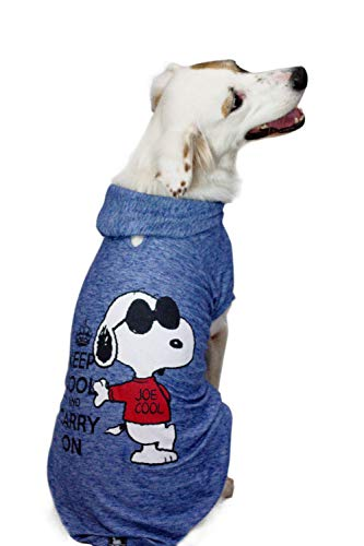ZOOZ PETS Snoopy Dog Clothes Hoodie - Lightweight Sweatshirt for Dogs & Cats in 5 Different Sizes...