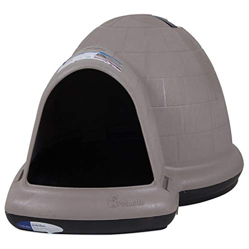 Petmate Indigo Dog House All-Weather Protection Taupe/Black 3 sizes...