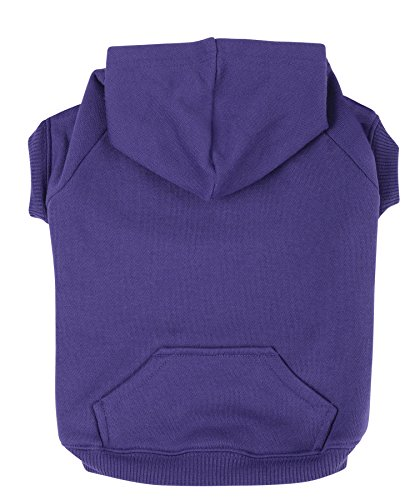 Zack & Zoey Polyester/Cotton Basic Dog Hoodie, Medium, 16-Inch Ultra...