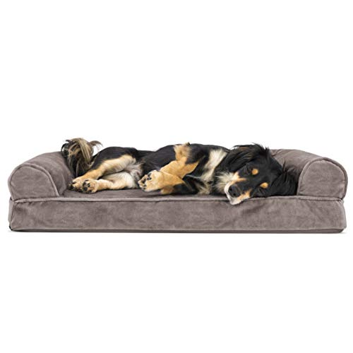 Furhaven Pet Dog Bed - Orthopedic Faux...