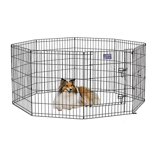 Midwest 552-30DR Exercise Pen, Black, 24X30 In, With Door