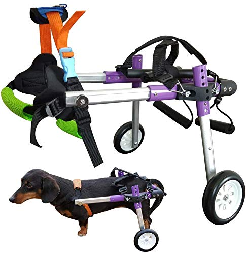 HiHydro 6 Types Cart Pet Wheelchair for Handicapped Hind Legs Small Dog Cat/Doggie/Puppy Walk...
