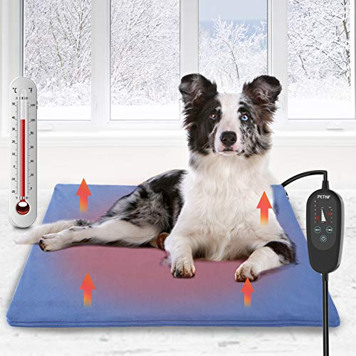petnf Upgraded Pet Heating Pad for Dogs Cats with Timer,Safety Cat Dog...