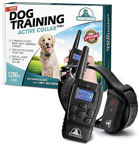 Pet Union PT0Z1 Premium Dog Training Shock Collar, Fully Waterproof,...