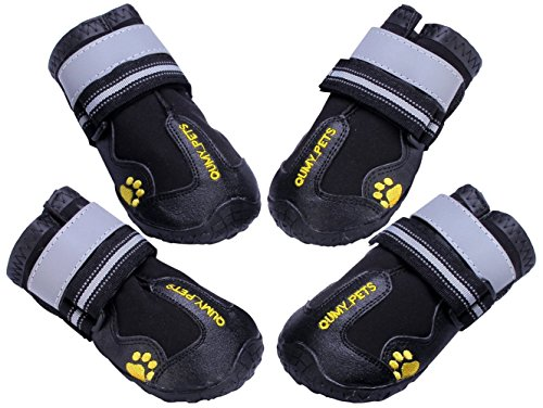 QUMY QUMY Dog Boots Waterproof Shoes for Large Dogs with...