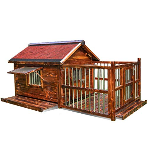 FENGHUANG Cat Pet House, Home Outdoor Dog House Wooden Waterproof...