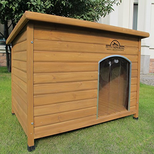 Pets Imperial Extra Large Insulated Wooden Norfolk Dog Kennel With...