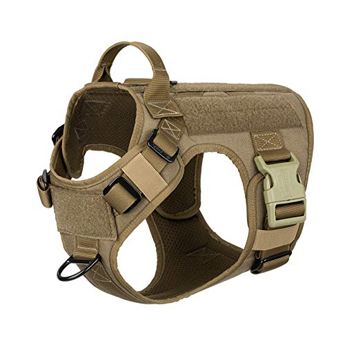 ICEFANG Tactical Dog Patch Harness Vest,Hook and Loop Panel, No...