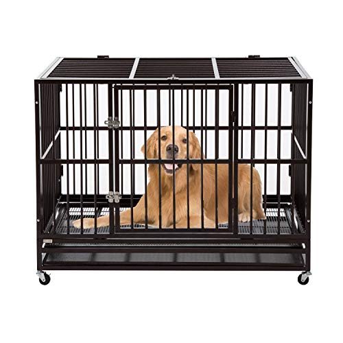 walnest 3XL 48' Dog Cage Crate Kennel - Indestructible Heavy Duty...