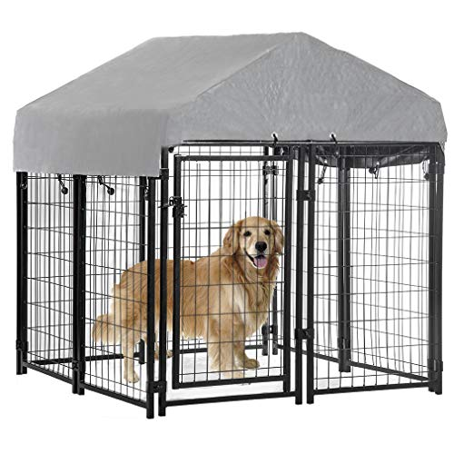 Dog Crate Kennel Large Heavy Duty Indoor...