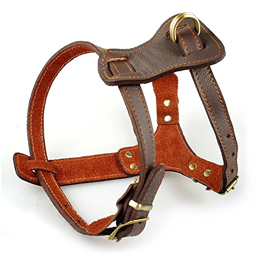 Beirui Leather Dog Harness - No Escape Training Harness Chest...