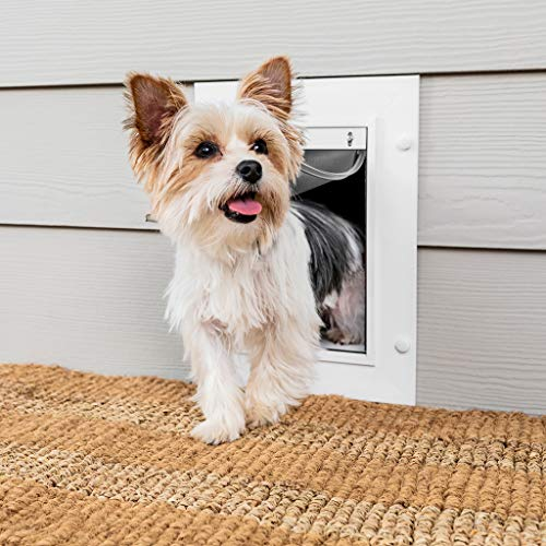 PetSafe Wall Entry Pet Door with Telescoping Tunnel, Small, for Pets...