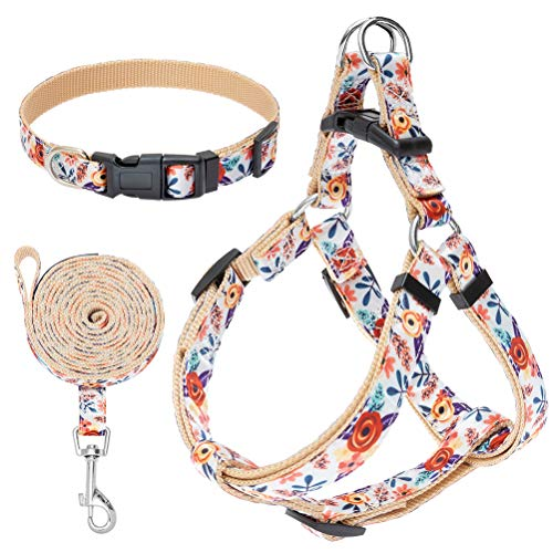 No Pull Dog Harness and Leash Set with Collar - Heavy Duty &...