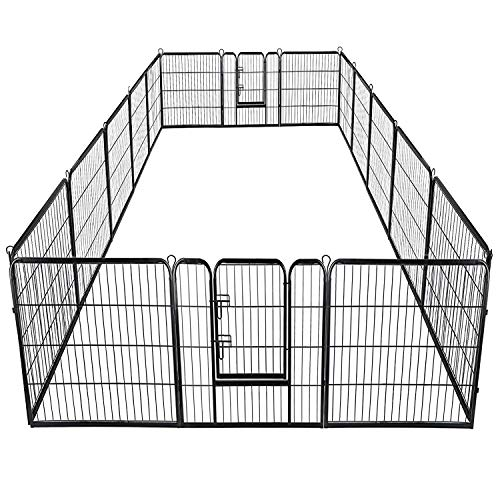 Giantex 40inch 16 Panel Pet Playpen with...