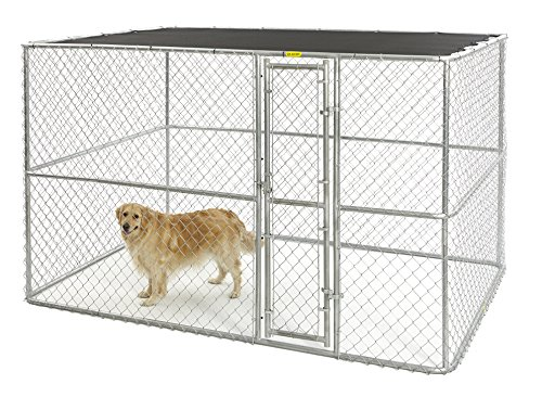 MIDWEST HOMES for PETS K91066 Chain Link Portable Kennel with...
