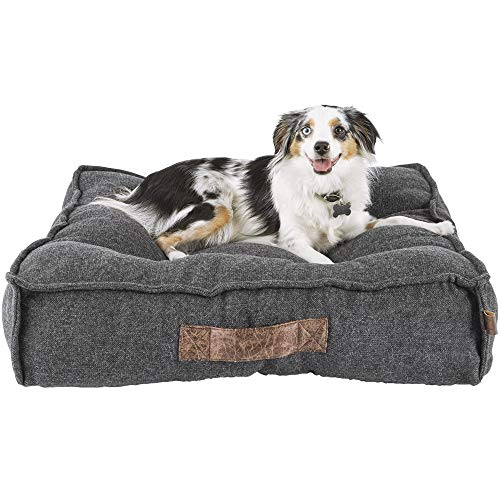 Harmony Grey Lounger Memory Foam Dog...