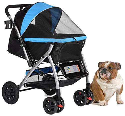 HPZ PET Rover Premium Heavy Duty Dog/Cat/Pet Stroller Travel Carriage...