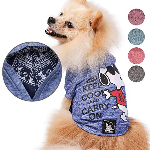 ZOOZ PETS Snoopy Dog Clothes Hoodie -...