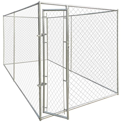 yorten Outdoor Dog Kennel Large Dog House 13'x6' with Chain-Link Mesh...