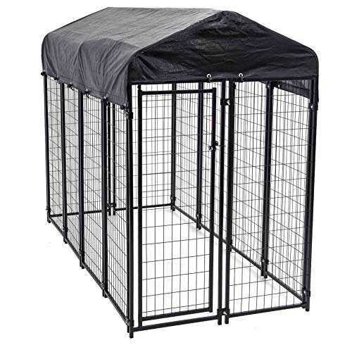 Lucky Dog Uptown Large Outdoor Covered Kennel Heavy Duty Dog Fence Pen...