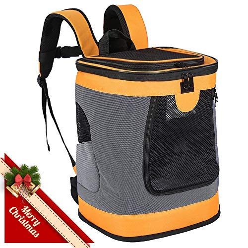 Pet Carrier Backpack for Small Medium Dogs Cats, Airline Approved Bag...